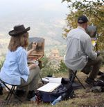 Cortona - oil painting group 1