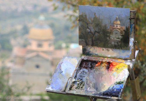 Cortona - oil painting 1