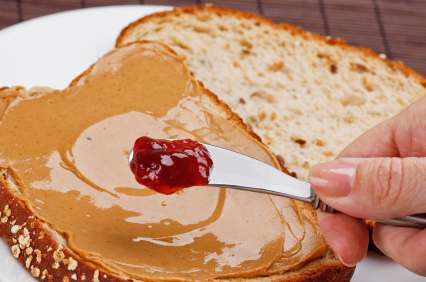 Peanut butter sandwich and jam 1