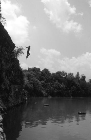 Mark Crooks - jumping from cliffs 2