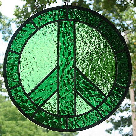 Glass Peace Symbol