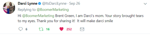 Darsi Lynne Mom's tweet
